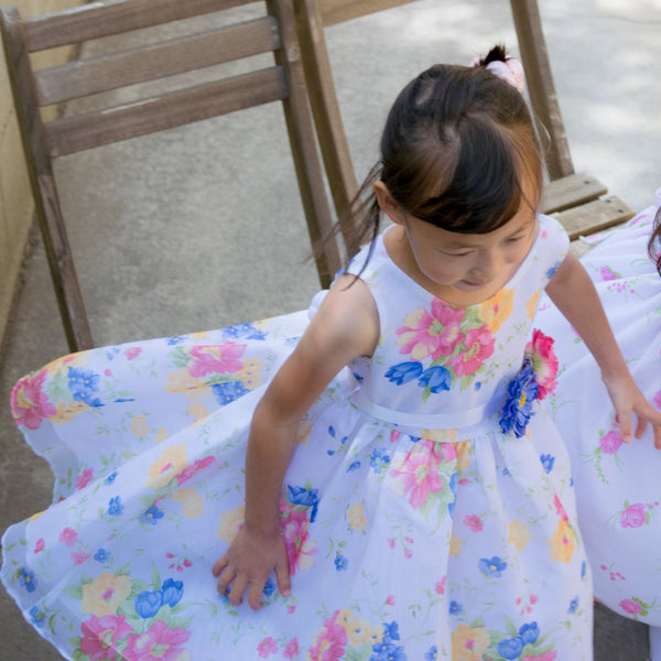 Organza Confetti Flower Dress, Special Occasion, Party, Wedding Flower Girl