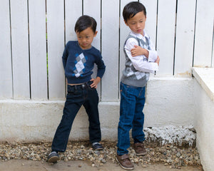 Boys Navy Denim Jeans