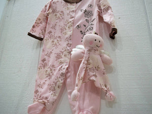 Baby Sleep and Play Pink Footed Pajamas with Matching Plush 2 Piece Set