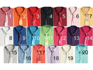 Mix and Match Colors Baby to Boys Suit Dress Pants, Shirt, Tie, Bowtie, Suspender