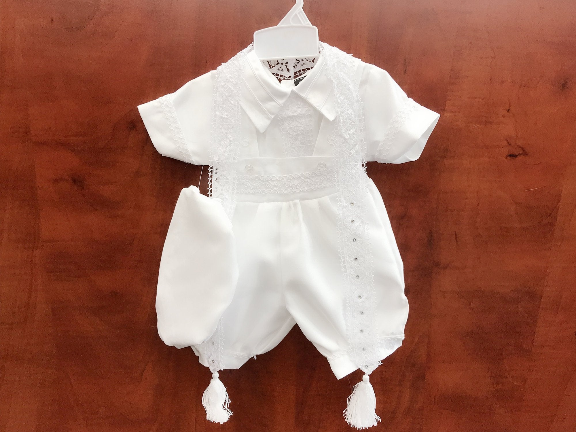 Small to 4T Boys  Infant Toddler Christening Baptism White Outfit S Sz