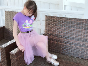 Girls Cute Whimsical Tulle Tutu Skirt, Sparkle Sequins, Lace, Mauve Lilac Purple, Beige Tan Brown, Black, Pink