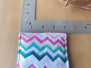 Reversible Cotton Fabric Coasters 4, Zig Zag Chevron Multi-Colors, Mug Cup Glass,Cold Hot Drink Tea Coffee, Housewarming New Home Party Gift