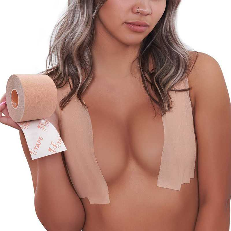 Waterproof Breast Lift Booby Tape Invisible Boob Bra Rape