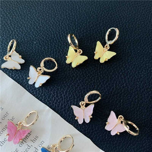 Lucky Pearl Lustre Butterfly Earrings And Butterfly Necklace