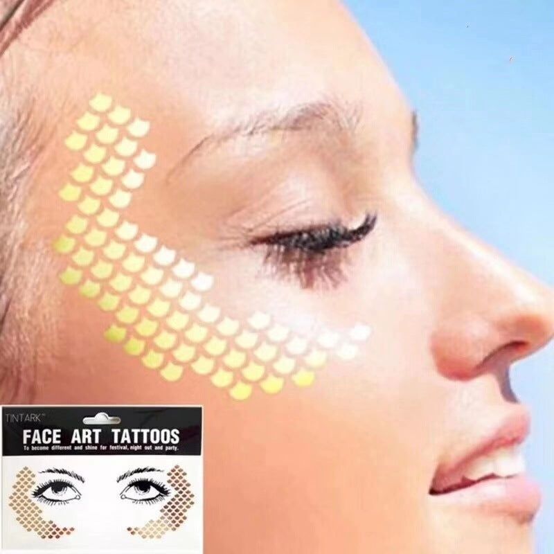 Waterproof Tattoo Stickers Festival Face Sticker Cover