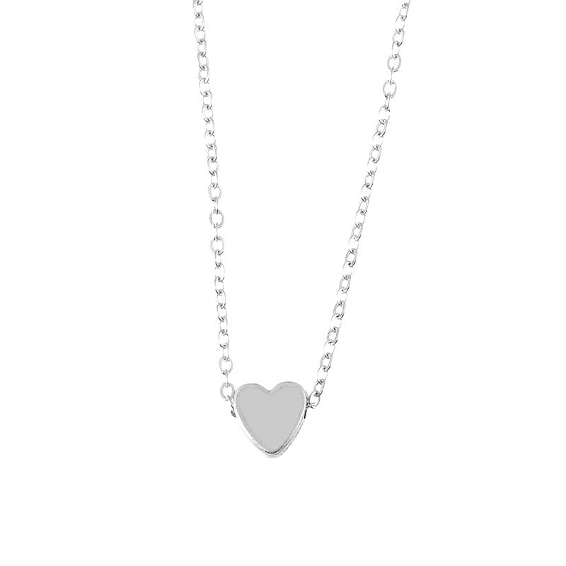 Romantic Love Beaded Heart Necklace
