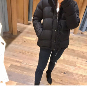 Warm Super Puffy Goose Down Puffer Jacket Quilted