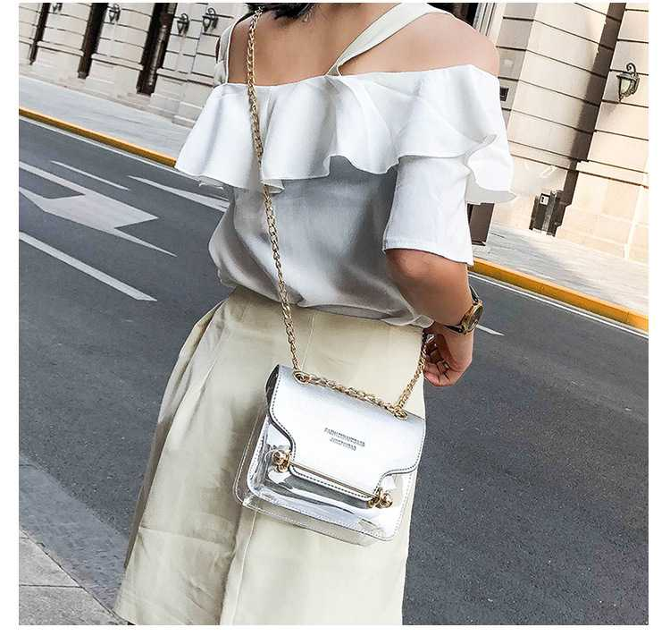 Embrossed Faux Leather Block Clear Handbags For Women