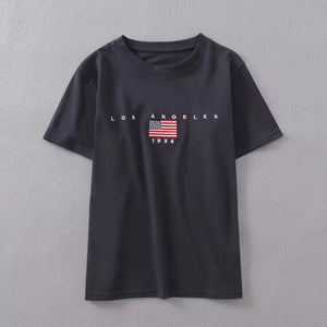 College USA Flag Tee Shirt For Teens