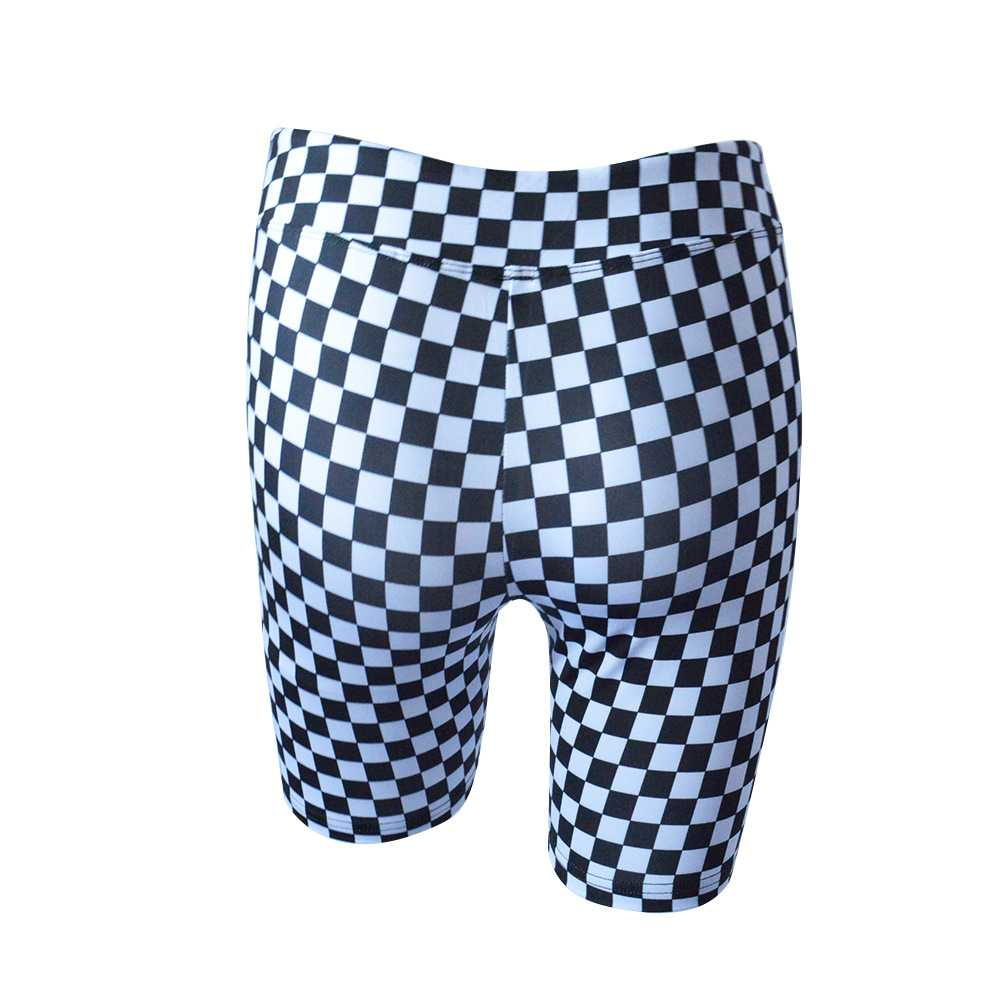 9a8e4c53d1bc9 Sporty Color Combos Printed Checkerboard Crop Tee and Biker Shorts ...