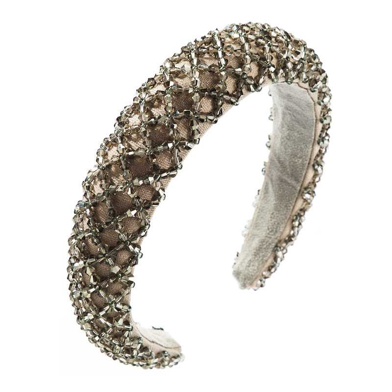 Cystal Embellished Beaded Sponge Padded Headband