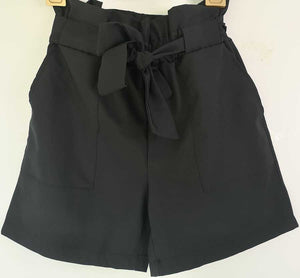 Casual High Waisted Paperbag Shorts Summer