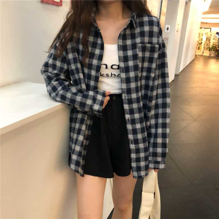 Plaid Tie Dye Color Block Checkered Flannel Shirts