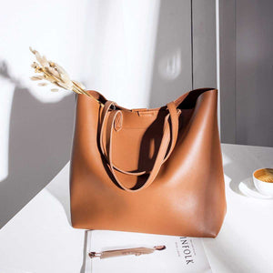 f79027836cf4 Brown Leather Womens Tote Bags School Handbags