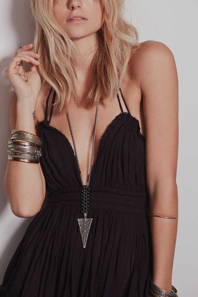 Adjustable Fit Dot Mesh Hem Halter Flowy Dress Open Backs