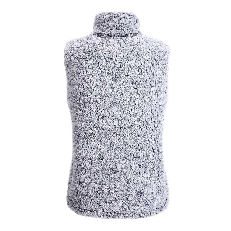 Fuzzy Faux Fur Winter Outerwear Sherpa Fleece Vest