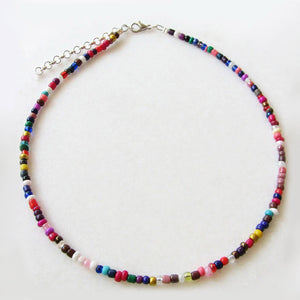 Bohemian Gypsy Chic Rainbow Beaded Choker Necklaces