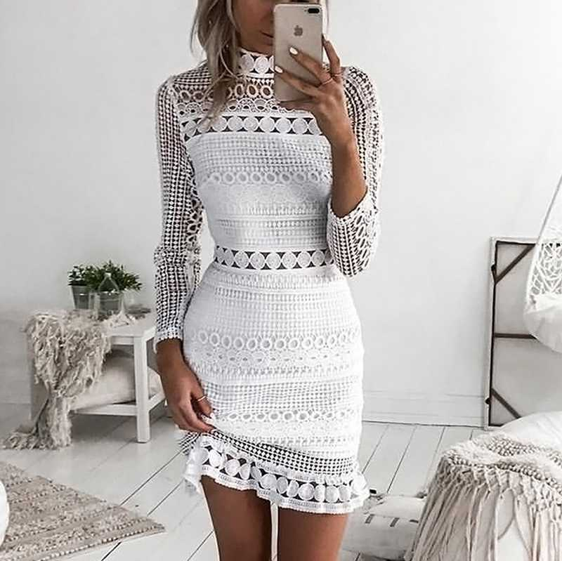 a2c276422681 Lace Dress   A White Lace Dress Is Also Your Luck Besides The Bride ...