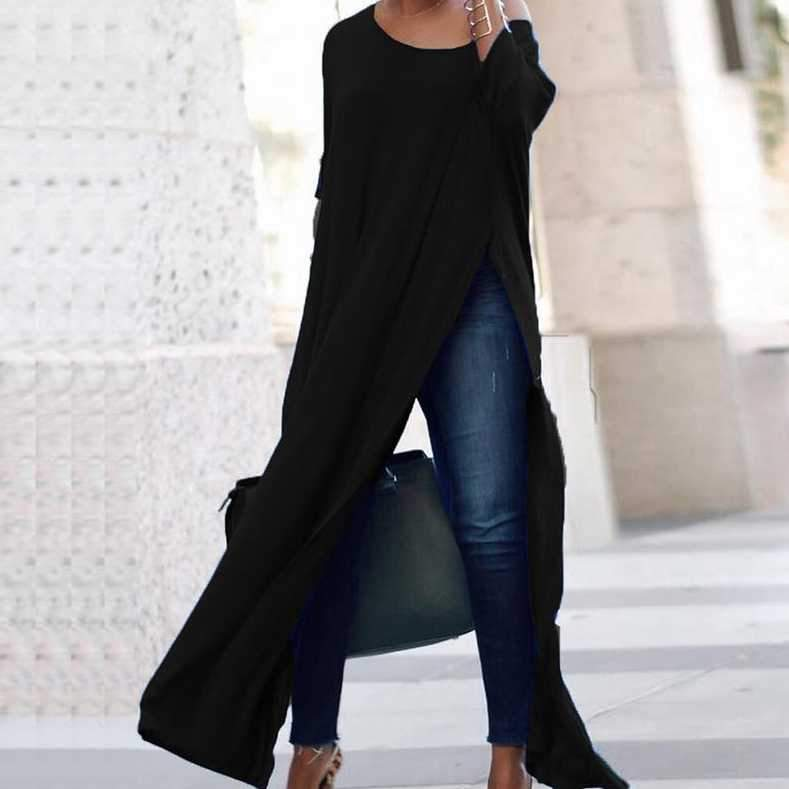 Off Shoulder High Split Batwing Long Dress