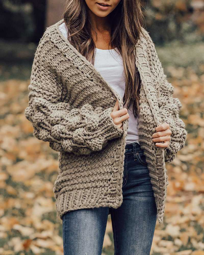 new images of new appearance presenting Oversized Chunky Thick Cable Knit Cardigan Sweater – sunifty