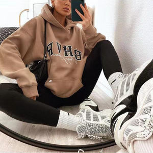Oversized Letters Printed Designer Hoodies For Women
