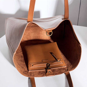 Brown Leather Womens Tote Bags School Handbags