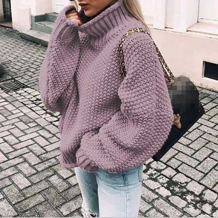 Oversized Baggy Turtleneck Pullover Sweaters