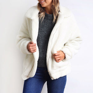 novel style modern techniques best quality for Oversized Faux Fur Teddy Bear Sherpa Coat