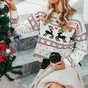 Classic Funny Ugly Christmas Sweater Knitted Xmas Animal Jumper