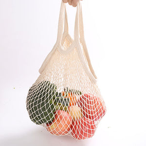 Eco Friendly Organic Fruit and Vegetable Mesh Net Grocery Tote Bag