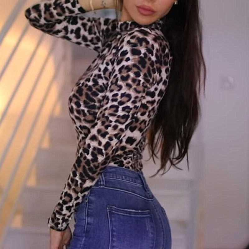 Cheetah Leopard Print Long Sleeve Thong Bodysuit – sunifty dc875c8c3