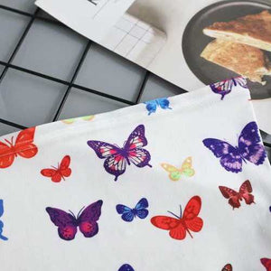 Rainbow Colorful Butterfly Longline Bandeau Crop Top