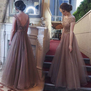 Cut Out Back Off Shoulder Chiffon Bridesmaid Maxi Gown Lace Dress