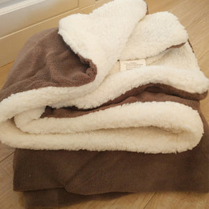 Plush Fuzzy Faux Fur Throw Sherpa Fleece Blankets
