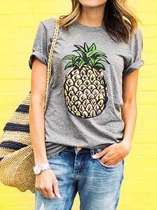 Tropical Prints Pineapple Tee Shirt