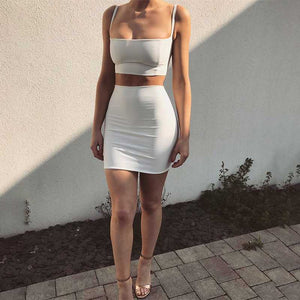 Crop Top Bodycon High Waist Separated Dress