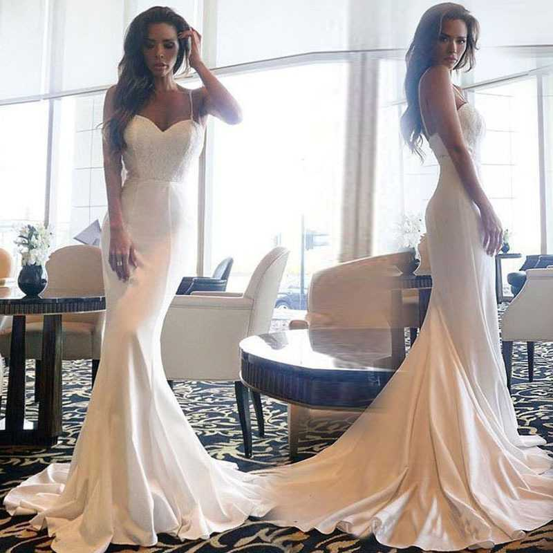 V Neck Cami Maxi Dress White Long Lace Gown