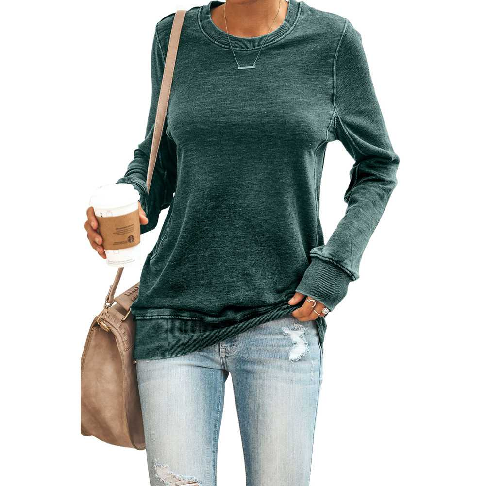 Sporty Women's Casual Crew Neck Sweatshirts