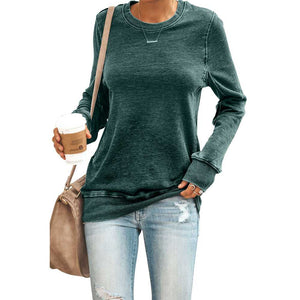 Thick Sporty Women's Casual Crew Neck Sweatshirts