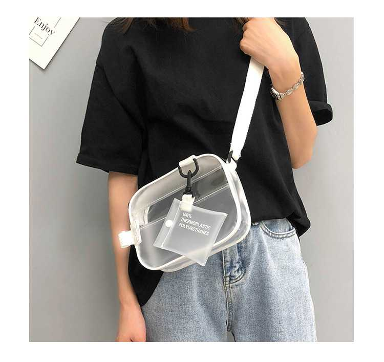 Casual Waterproof Matt Transparent Clear Shoulder Bag
