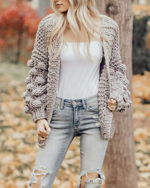 Oversized Chunky Thick Cable Knit Cardigan Sweater