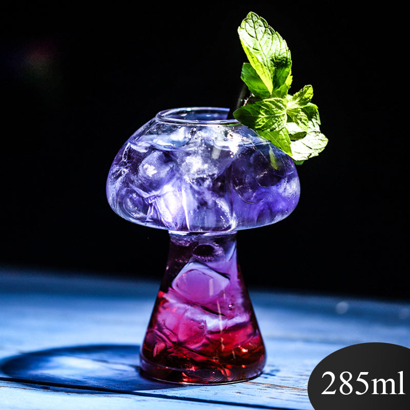 New net red mushroom cup Cocktail Cup creative molecular gourmet bar special wine cup personality glass