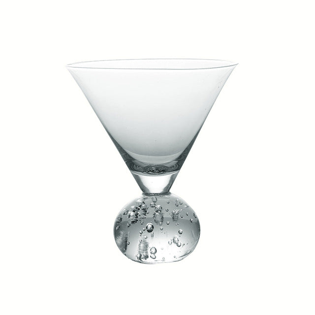 Creative Cylindrical Base Cocktail Glass Personality Bar Restaurant Household Wine Glass Mojito Margaret Brandy Cold Drink Cup