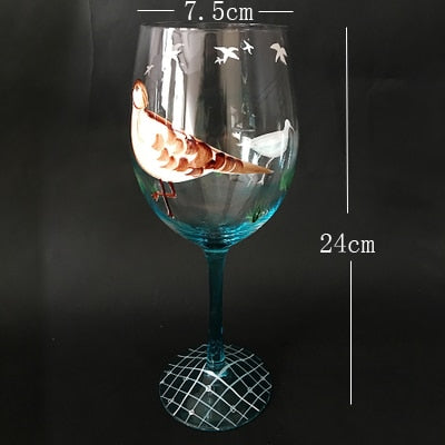 Creative Carved flowers Crystal cocktail glass  wine glass  goblet champagne glasses wine cups Bar Hotel party wedding Drinkware