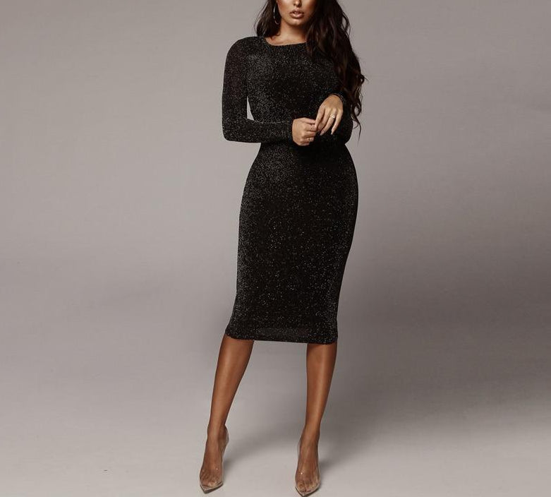 Lilia Long Sleeve Party Dress-Rue Tata