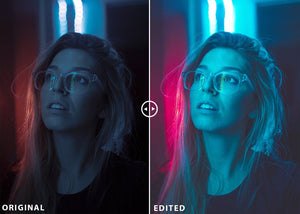 NEON NIGHT Lightroom Preset And Photoshop