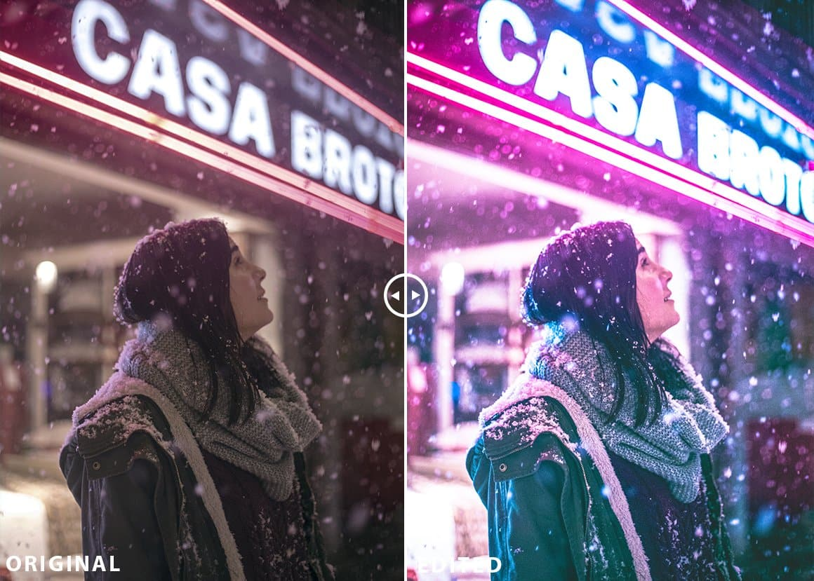 Neon Lights Preset Lightroom