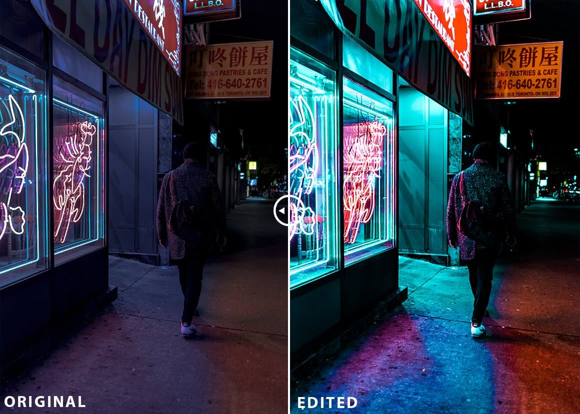 Neon Night Lightroom Preset