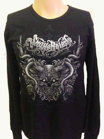 SnakeBytes Black Long Sleeve Thermal Shirt
